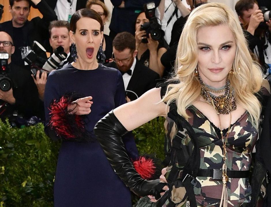 Reação de Sarah Pulson ao ver Madonna do Met Gala viraliza na internet