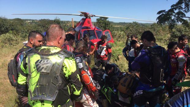 Homem sofre acidente na Serra das Areias, em Aragoiânia