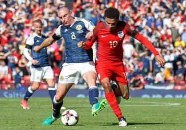 Inglaterra marca no último minuto e empata com a Escócia pelas Eliminatórias