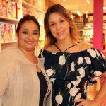 A empresária Liliane Evangelista recebeu a amiga e também empresária Karina Borges na Encanti Festas.