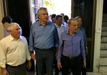 Caiado acompanha vistoria de obras durante mutirão da Prefeitura de Goiânia