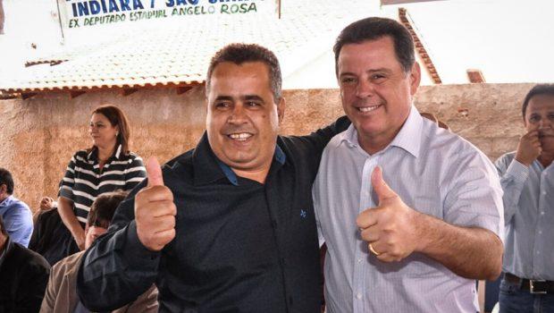 """""""Não me esqueço das cidades, dos prefeitos, principalmente em tempos de crise"""", diz Marconi em Castelândia"""