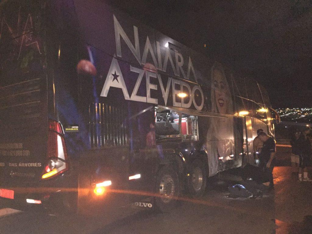 Motorista bêbado bate em ônibus de Naiara Azevedo