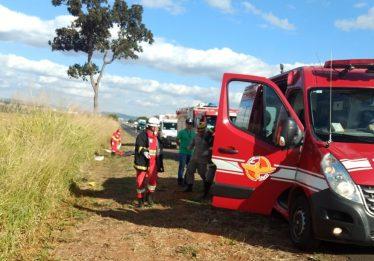 Capotamento na BR-153 deixa vítima fatal
