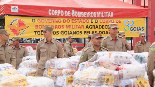 Corpo de Bombeiros Militar arrecada mais de 130 mil quilos para vítimas das chuvas no Nordeste