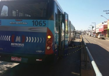 Homem morre atropelado por ônibus do Eixo Anhanguera