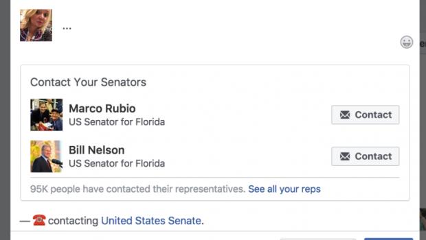 Facebook quer ajudar usuários a falar com seus políticos