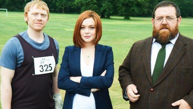 Lindsay Lohan entra para série de comédia com Rupert Grint e Nick Frost