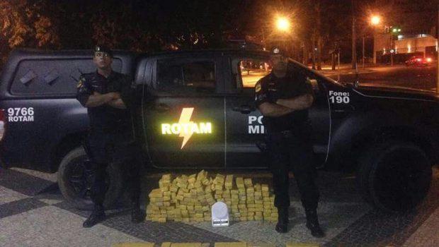 PM prende quatro traficantes e apreende cerca de 100 quilos de maconha, em Goiânia