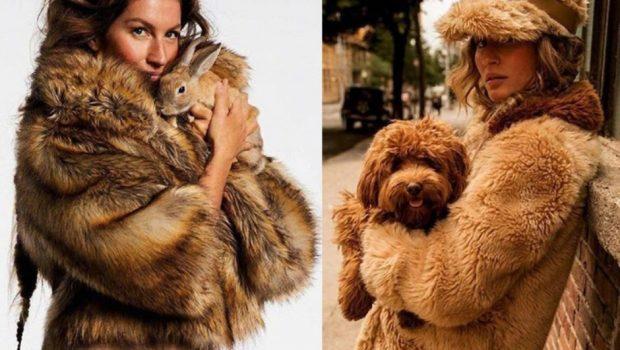 Gisele Bündchen é capa da Vogue Paris dedicada à proteção animal