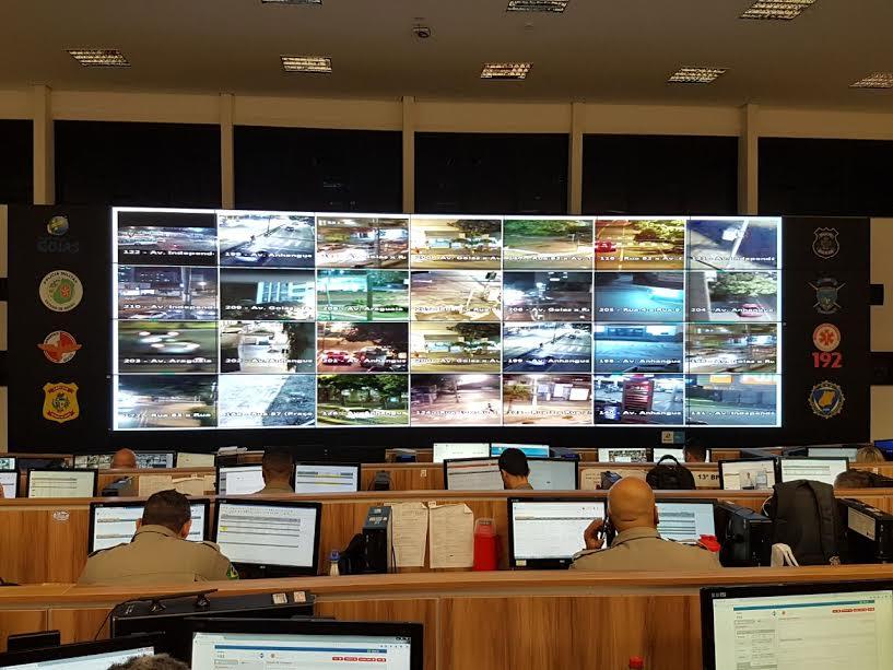 Monitoramento intensivo via câmeras eletrônicas reduz criminalidade em Goiânia