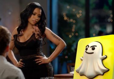 Nicki Minaj fica perdida ao usar Snapchat pela primeira vez