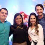 Os executivos Ricardo e Letícia Paniago foram recebidos pelo casal Marcella e Cleber Mattos.