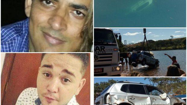 Dois homens morrem após carro cair no Rio Paranaíba, em Itumbiara
