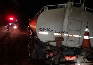 Acidente entre ônibus e caminhão carregado com etanol deixa 14 feridos na GO-485