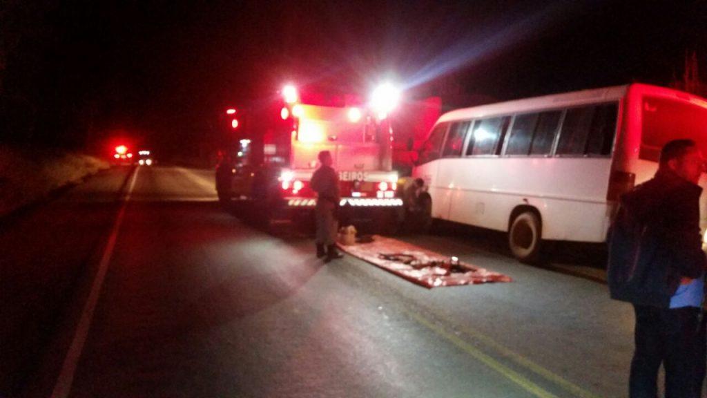 Acidente entre caminhão e microonibus deixa onze feridos na BR-153