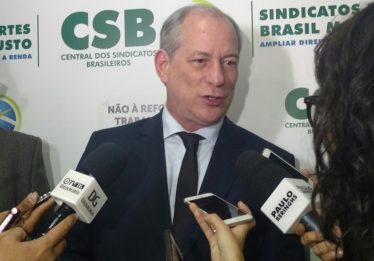 Depois de proposta sobre SPC, Ciro passa a atacar teto dos gastos