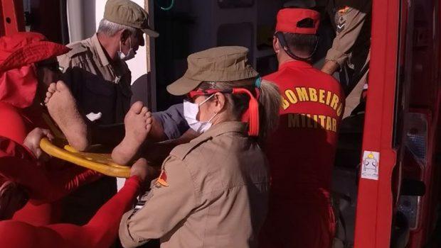 Corpo de Bombeiros atendem duas ocorrências no Rio Araguaia
