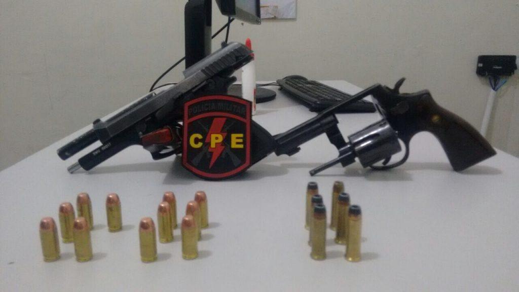 Três homens são presos em Anápolis de posse de armas e carros roubados