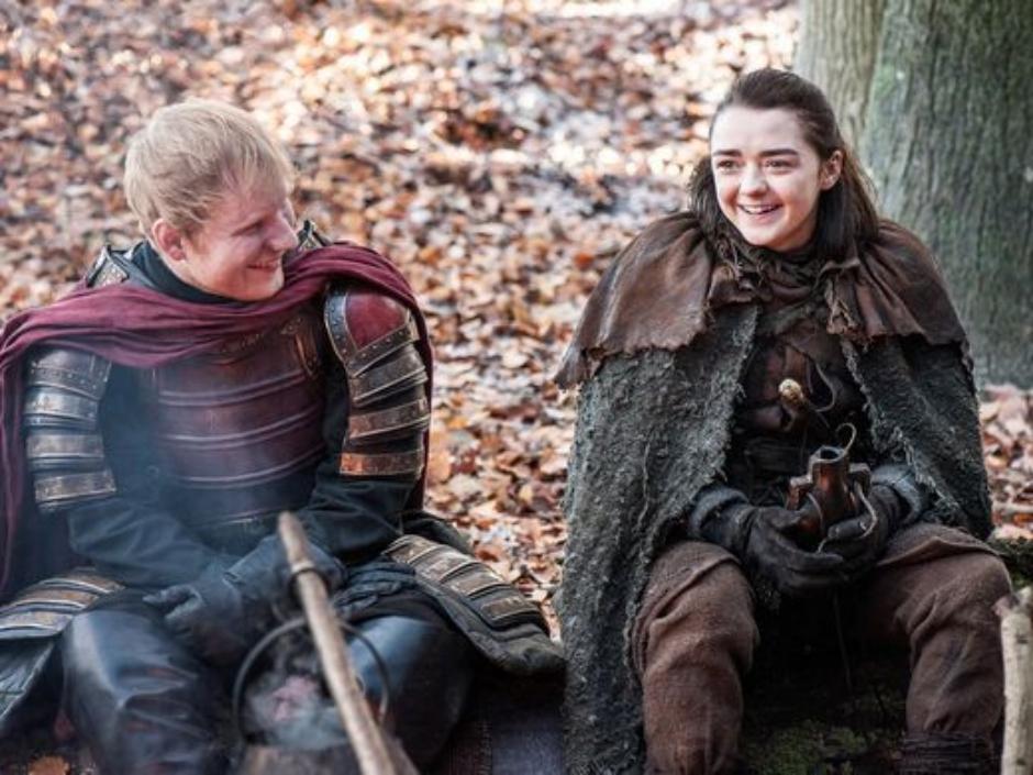 Participação de Ed Sheeran em GoT foi surpresa preparada para atriz