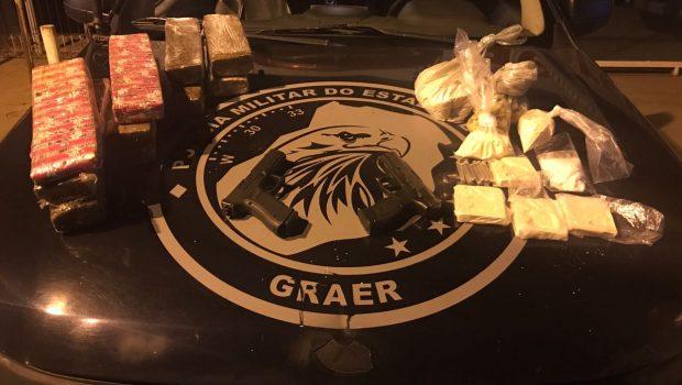 Polícia Militar estoura laboratório de cocaína, em Trindade