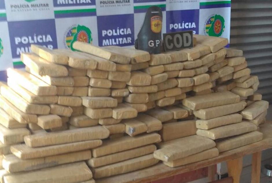 PM apreende 340 kg de maconha; a droga é avaliada em R$ 442 mil