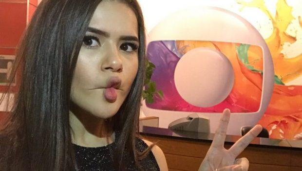 Maisa Silva visita estúdios da Rede Globo e internet surta