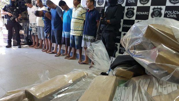 Operação da Denarc prende sete homens suspeitos de abastecer o tráfico de drogas em Goiás