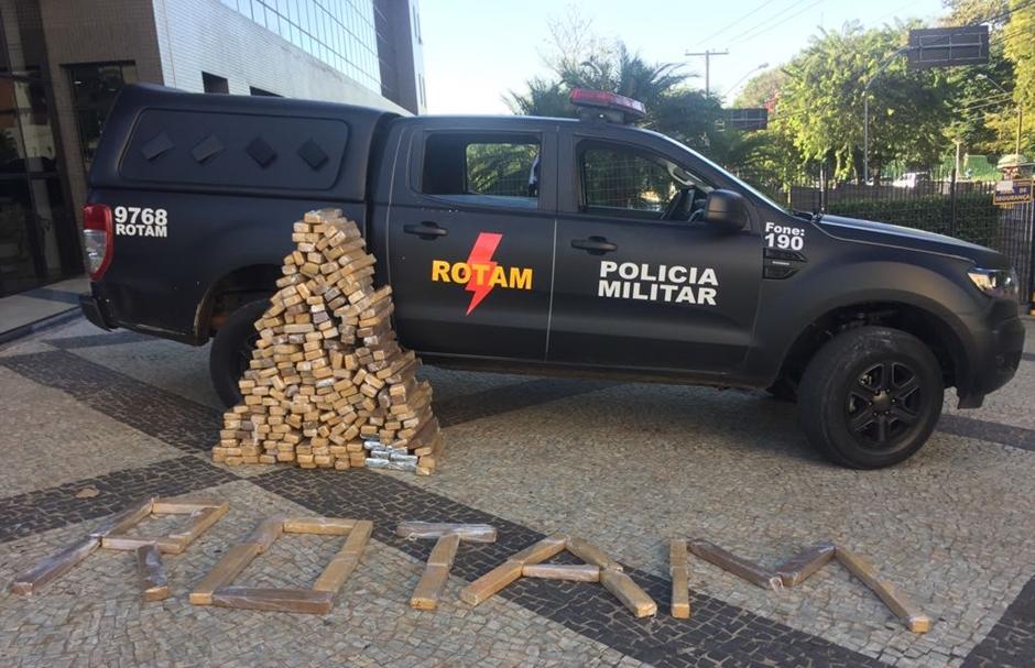 Rotam apreende 200 kg de maconha em Goiânia