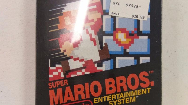 Fita lacrada do primeiroo Super Mario é vendida por quase R$ 95 mil
