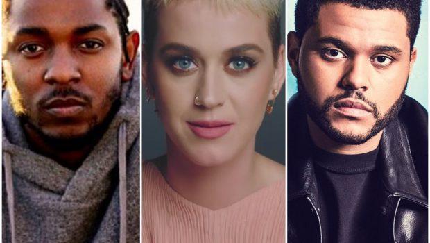 Kendrick Lamar, Katy Perry e The Weeknd lideram indicações ao VMA 2017