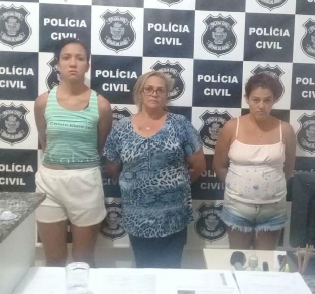 Três mulheres da mesma família são presas por tráfico de drogas em Alexânia