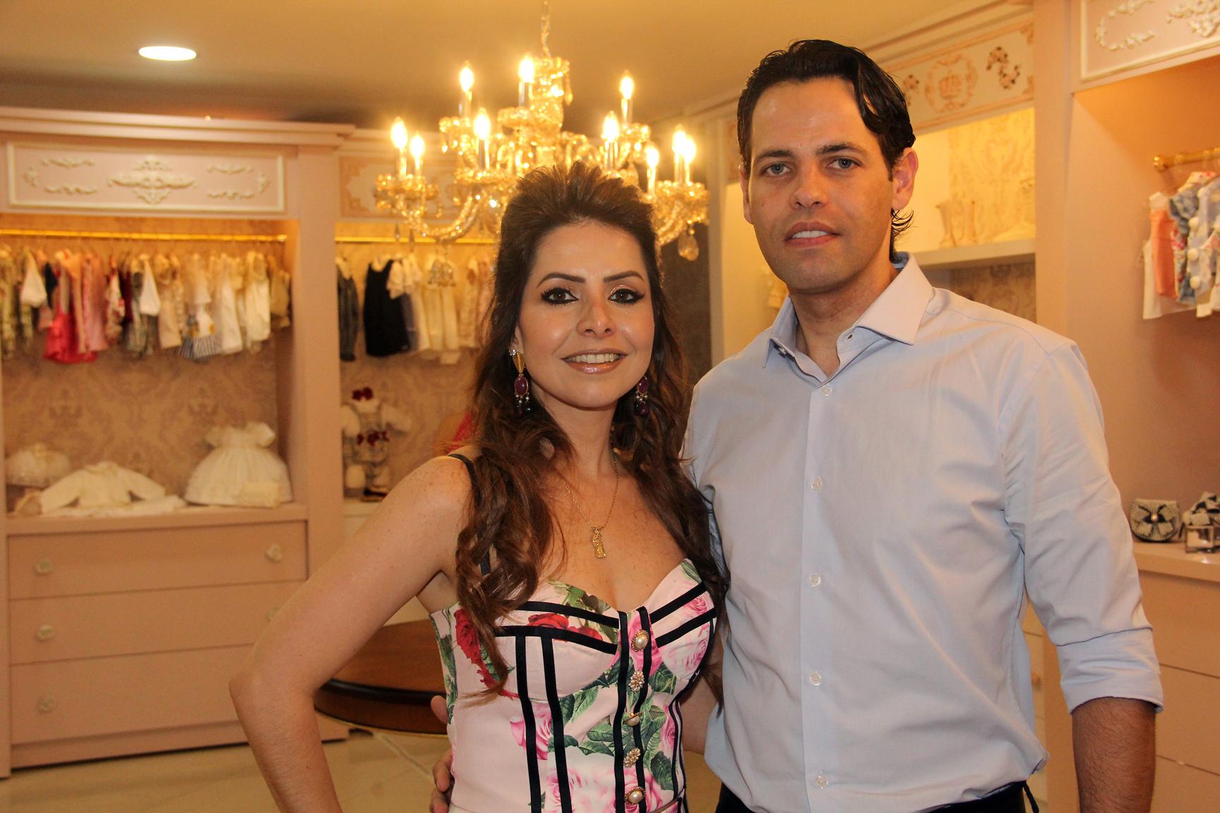 A empresária Ludmyla Vasconcelos recebeu o arquiteto Ademar Junior. Ele assina o projeto da nova sede da loja Amoreco, no Setor Marista.