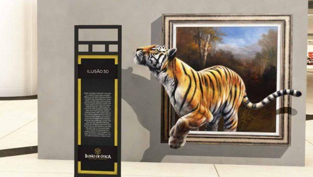 Exposição inédita leva ilusões de ótica ao Passeio das Águas Shopping
