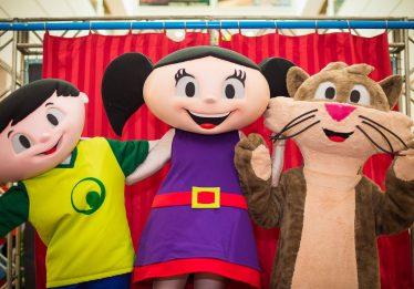 Personagens oficiais do Show da Luna esperam pelas crianças no Goiânia Shopping