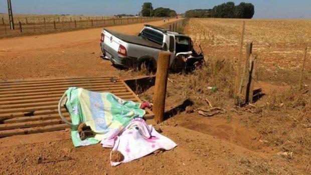 Mãe e filha morrem em acidente na GO-184 em Serranópolis
