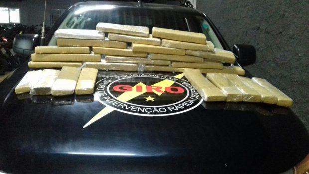 Giro prende traficante e apreende 25 quilos de maconha em Goiânia