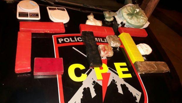 Homem é preso e dois menores são apreendidos por tráfico de drogas em Itaberaí