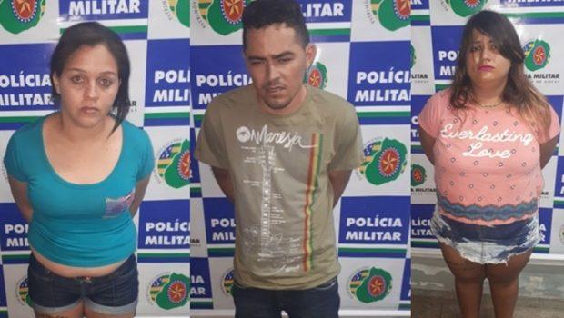 Três pessoas são presas com drogas e arma de fogo em Aparecida de Goiânia