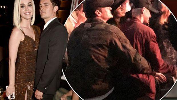 Katy Perry e Orlando Bloom são vistos juntos em show de Ed Sheeran
