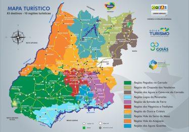 Novo Mapa Turístico de Goiás tem 83 destinos