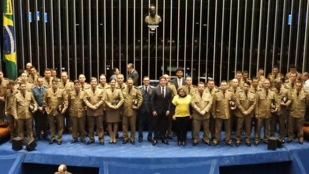 Polícia Militar de Goiás recebe homenagem do Senado
