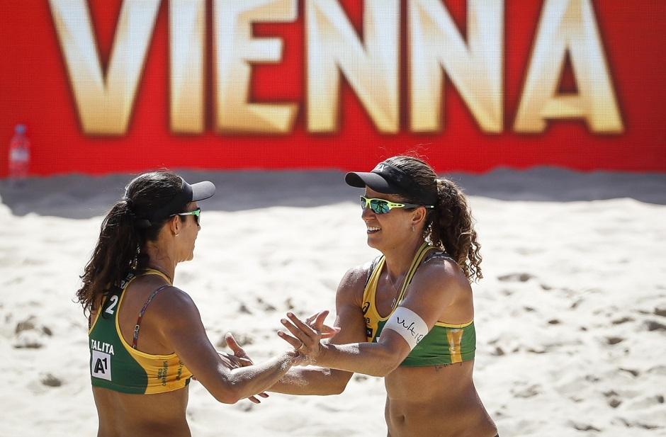 Dupla brasileira garante o bronze no vôlei de praia