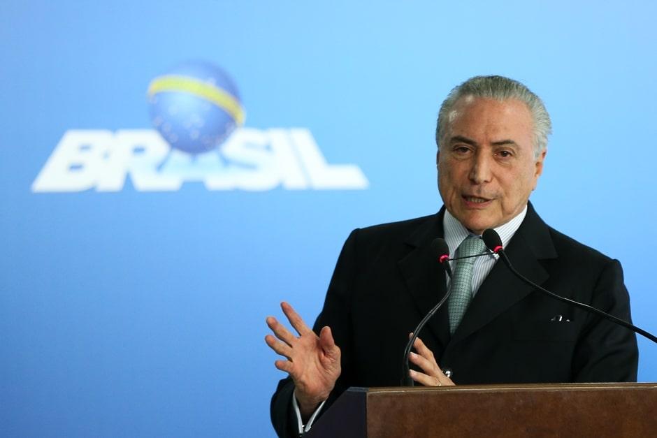 Em cerimônia no Planalto, Temer diz que realidade é crescimento do País