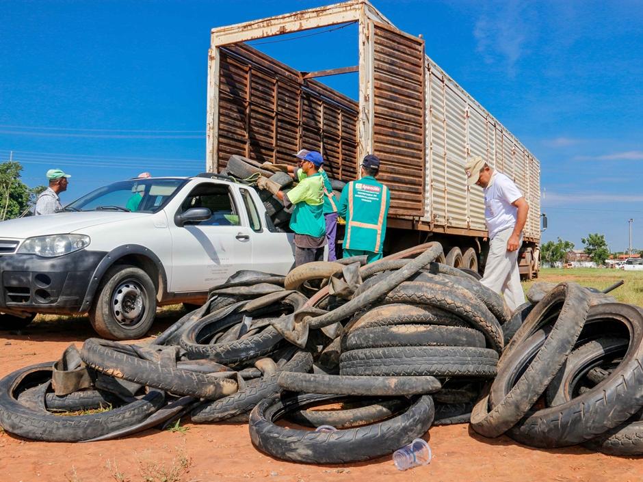 SMS realiza ação de coleta de pneus em Aparecida a partir desta terça
