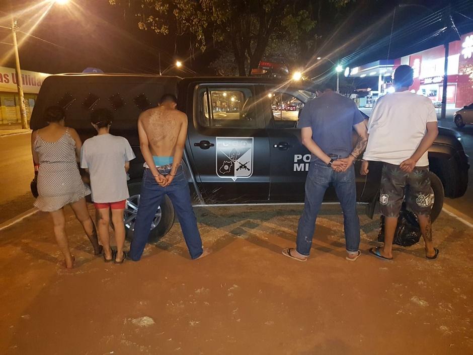 Cinco pessoas são detidas por tráfico de drogas em Nazário