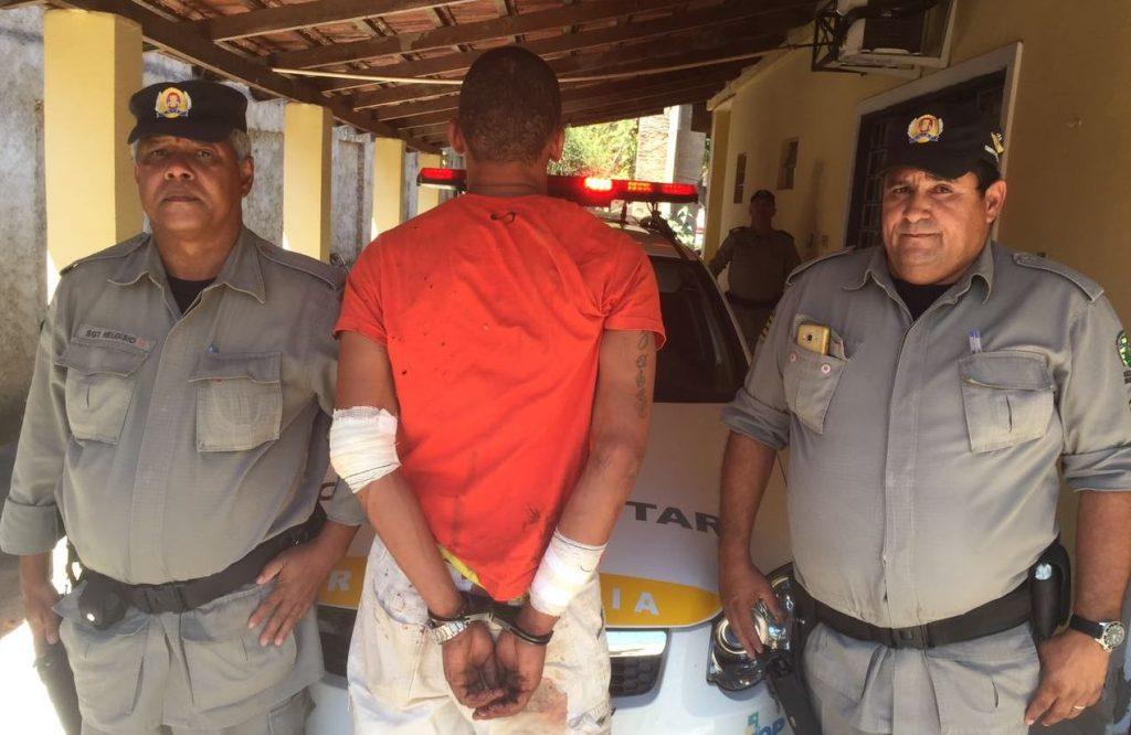 Suspeito de furto é preso após se envolver em acidente, em Itapirapuã