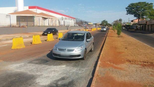 Com obra do BRT parada, SMT reorganiza trânsito na região do Balneário Meia Ponte