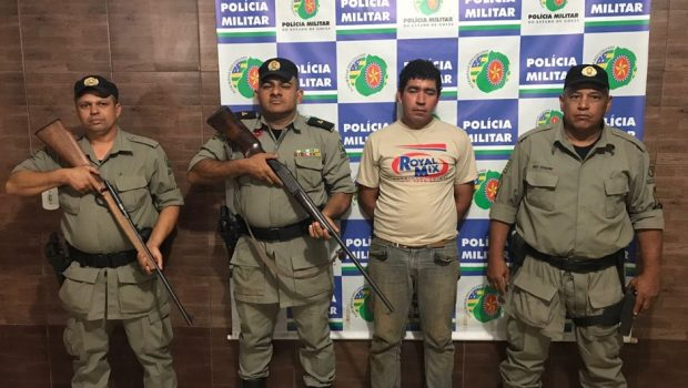 Homem é preso por tentativa de homicídio e porte ilegal de armas, em Nerópolis