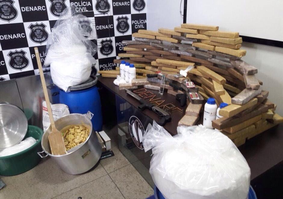 Denarc estoura outro laboratório de refino de cocaína em Goiânia